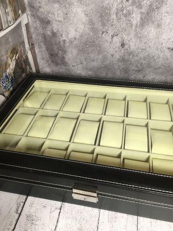Органайзер бокс шкатулка для хранения часов 24 отделения