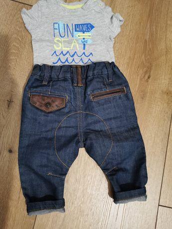 Nowe Spodnie Jeans 74 Next Modne dziecięce 6-9 msc