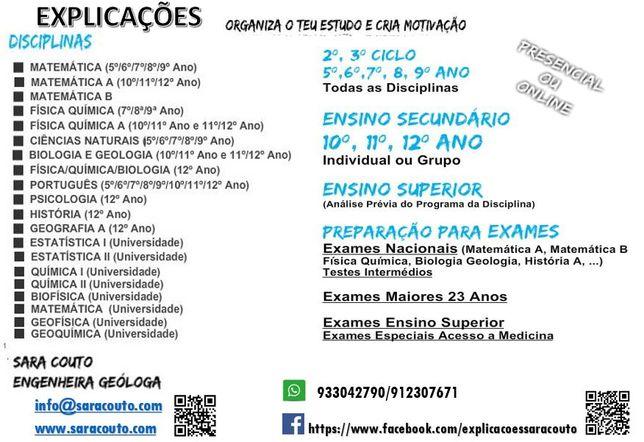 Prepara os teus Exames Nacionais em Portimão