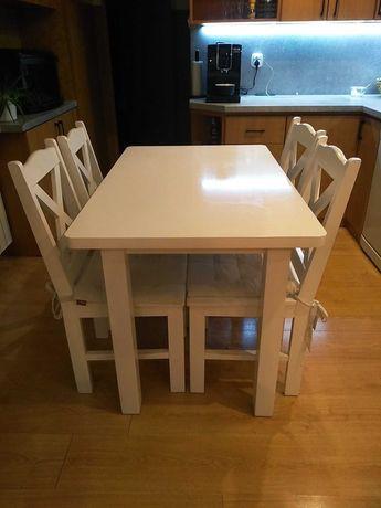 Drewniany Stół (110dł. 70 szer.)+4 krzesła