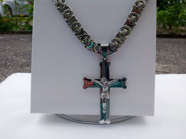 Srebrny łańcuszek,krzyżyk,bransoletka,316l,srebro,złoto,armani,ck,lv,