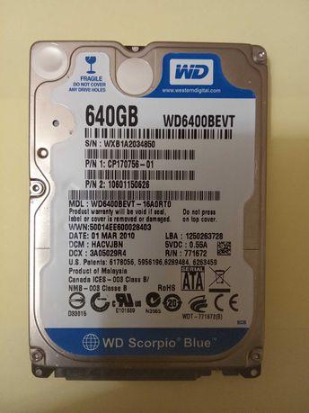 Жесткий диск WD на 640гб.