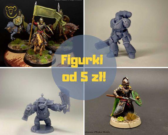 Żywiczny Druk 3D - Figurki, Modele, Obiekty Warhammer, RPG, 40K, LOTR