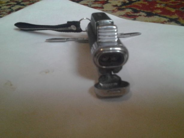Мультитул-зажигалка (4 в 1)пьезо горелка нож ножницы отвёртка