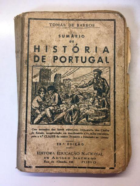 Livro - Sumário de História de Portugal