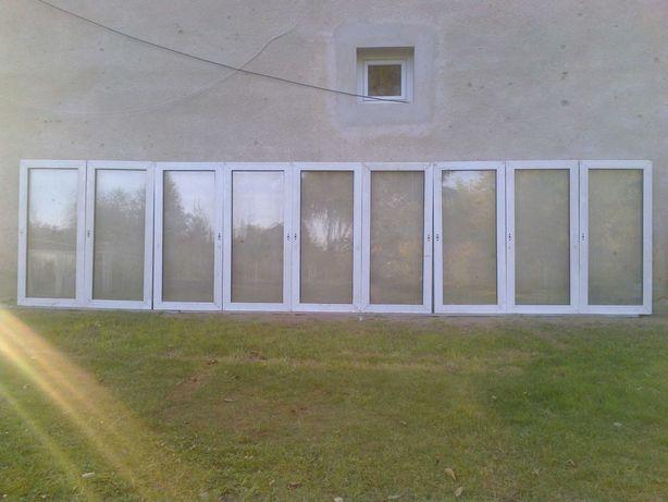 9 skrzydeł okiennych pcv 561x132 białe