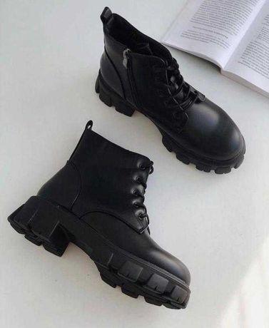 Зимние ботинки на трендовой подошве