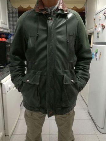 Casaco pele verde tamanho L