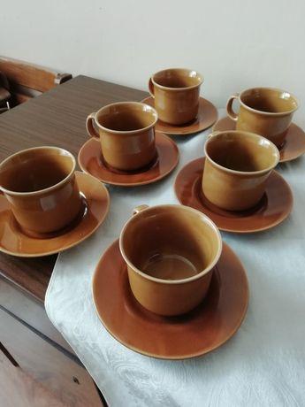 Komplet do herbaty lub kawy fajans Tułowice