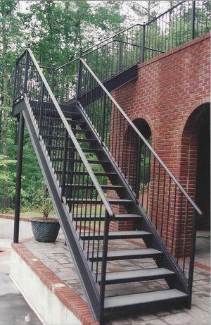 Schody metalowe loft