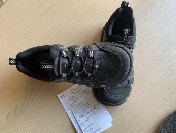 Кроссовки ботинки эко ecco 28 размер, 18 см, кожа