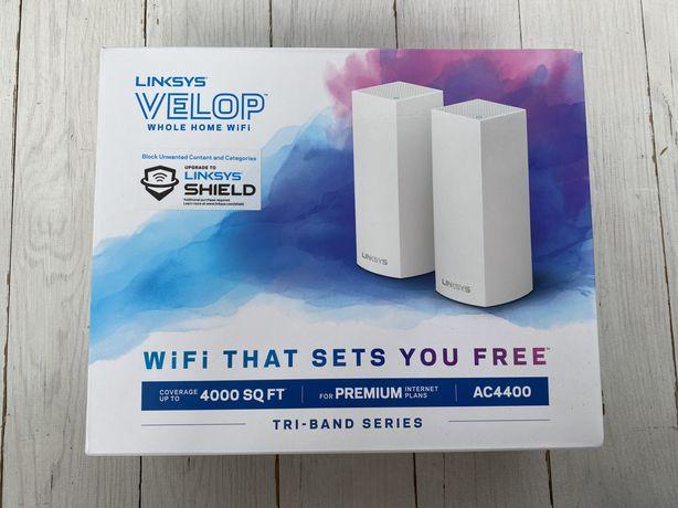 Роутеры (mesh WiFi система) Linksys Veloop AC4400 2-Pack White