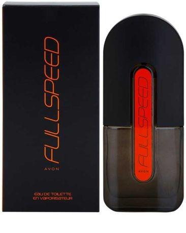 Avon Full Speed оранжевый мужская туалетная вода духи 75мл цитрусовый