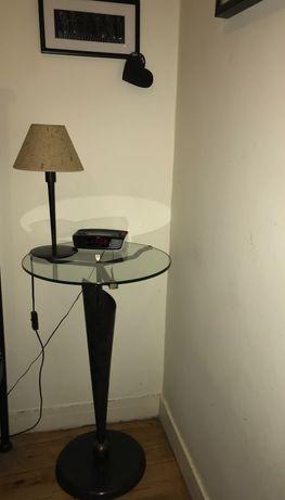 Mesa de apoio ferro e vidro
