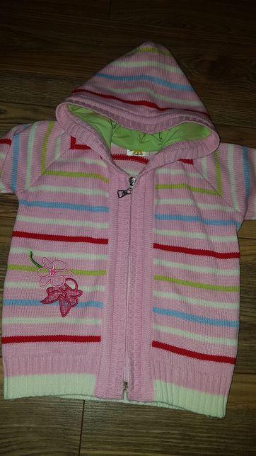 Sweter 104/110 JAK NOWY kardigan sweterek bluza z kapturem