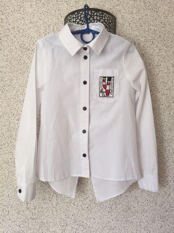 Рубашка белая для девочек,  блузка на 7- 9  років на ріст 128-134 см
