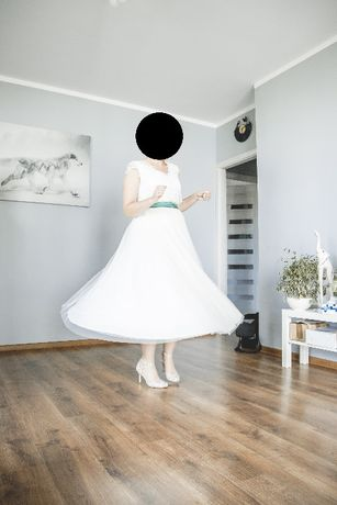 Suknia ślubna styl rustykalny - stan idealny!