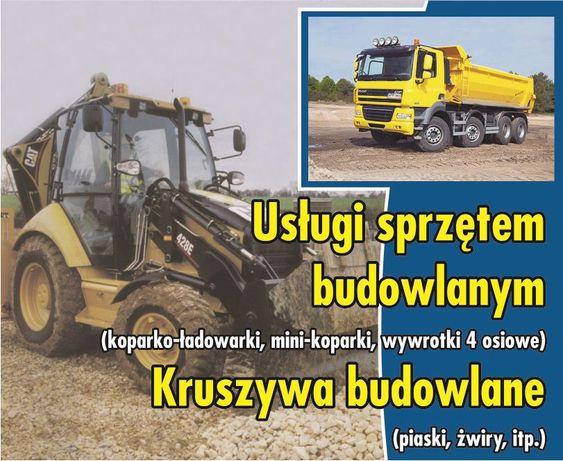 Usługi kop-ład koparką koparko-ładowarką wywóz gruzu Ziemia Ogrodowa