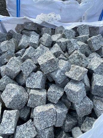 Kostka granitowa szara 1 gat. granit kamień kostka brukowa obrzeże