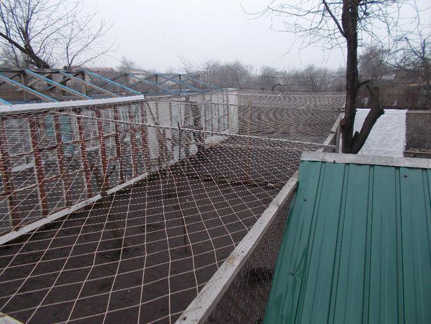 Сетка плетеная (укрытие для птицы).