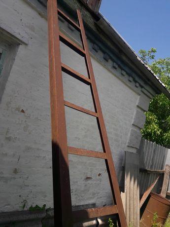Драбина, лестница 3.5м, метал 0.5