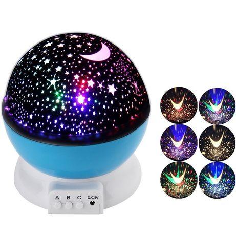 Круглый вращающийся ночник-проектор звездное небо 3D Star Master Dream