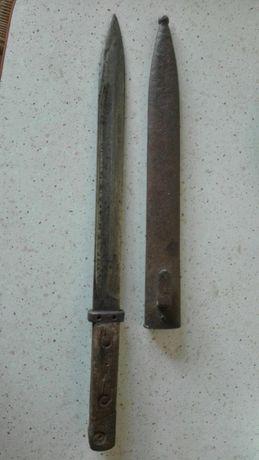 Bagnet A-wg do sztucera Mannlicher z pochwą, zabytkowy