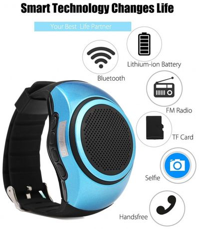 Novo! B20 MP3 Altifalante S/ Fio Bluetooth de pulso.