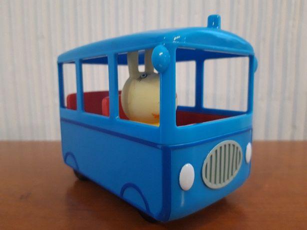 Świnka Peppa - Szkolny Autobus z figurką Pani Królik 06576