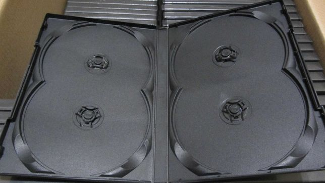 Коробки (боксы) НОВЫЕ на 4 DVD диска (Китай, высокие, черные)!