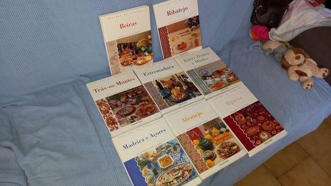 Coleção de 8 livros capa dura cozinha de Portugal