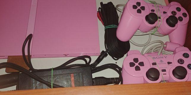 PlayStation 2 Slim PINK różowe.
