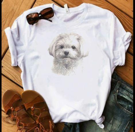 Koszulka bluzka t-shirt pies maltańczyk S-XXL