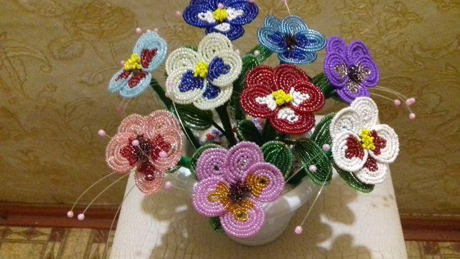 Цветы из бисера, иконы