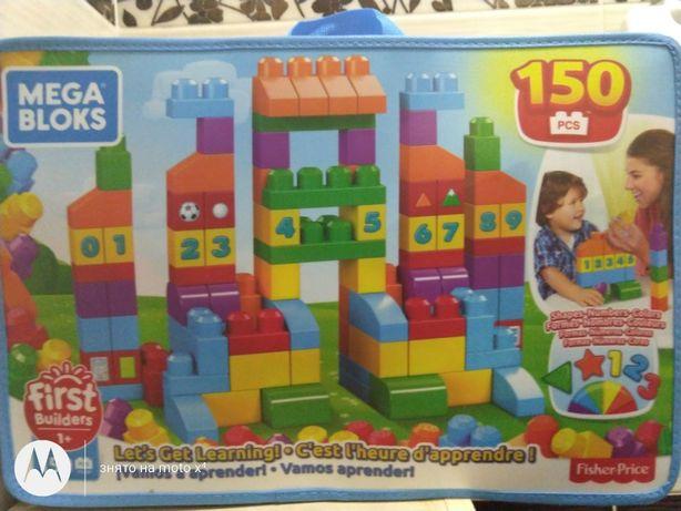 Конструктор Mega Block Fisher price 150 деталей First Builders