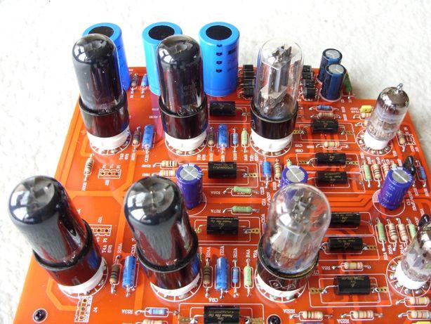 "Wzmacniacz PCB/DIY ""PUSH-PULL 6V6""."