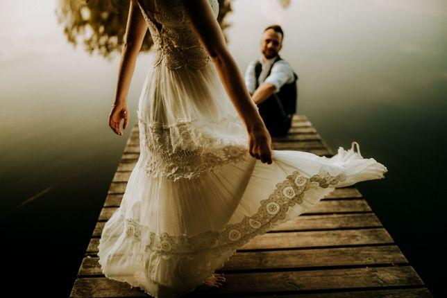 Suknia ślubna BOHO-kobieca-zwiewna