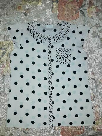 Блуза блузка горохи