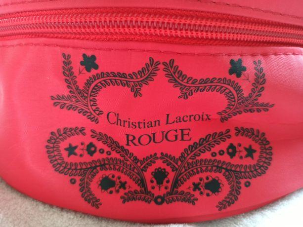 Kosmetyczka czerwona Christian Lacroix kuferek na kosmetyki/biżuterię