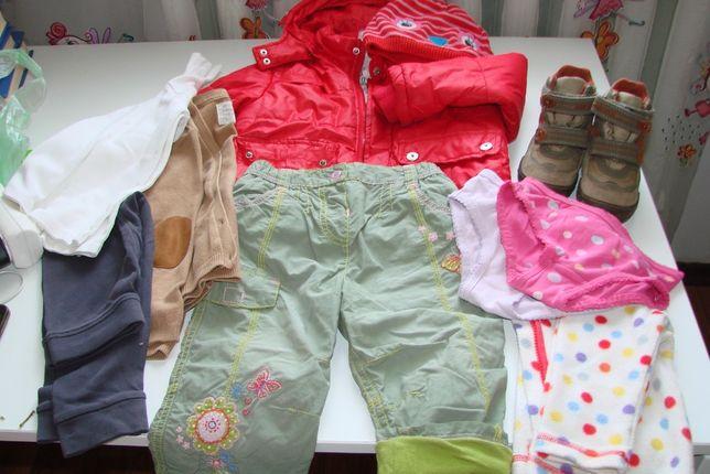 Пакет вещей и ботинки Geox для девочки на 2-3 года