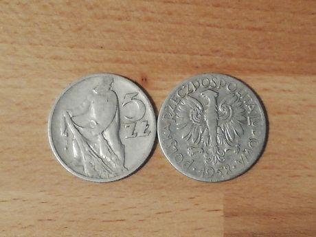 Moneta 5 złotych 1958r rybak(2sztuki)
