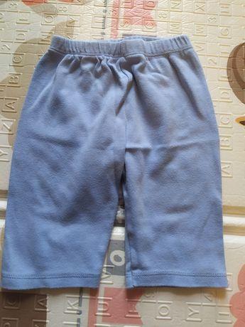Niebieskie spodnie niemowlęce 62/68