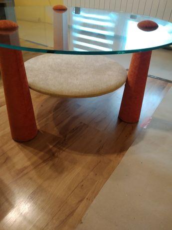 Stolik kawowy okrągły na nogach rondo