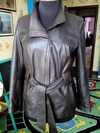 Куртка кожаная женская на молнии