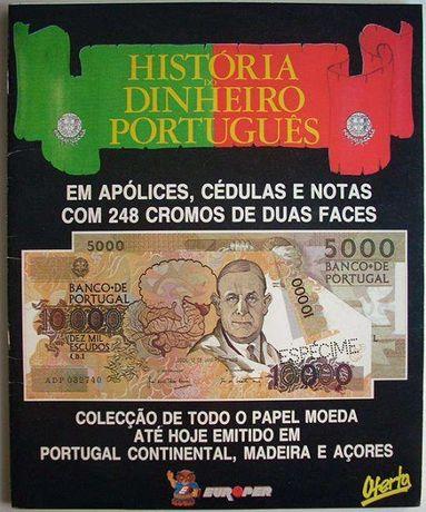 Caderneta Cromos História Dinheiro Português