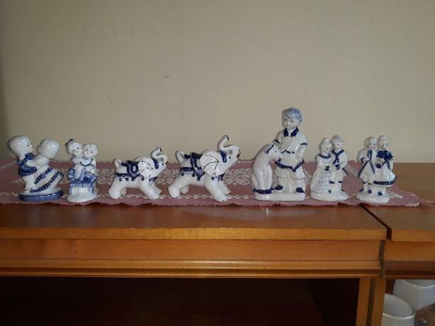 Figurki porcelanowe 7 sztuk