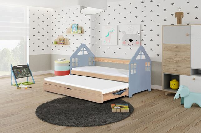 Stylowe łóżko dziecięce Domek! Tania wysyłka! Materace w cenie