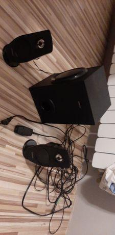 Głośniki creative t3030 głośniki komputerowe tuba sprawne bd dźwięk