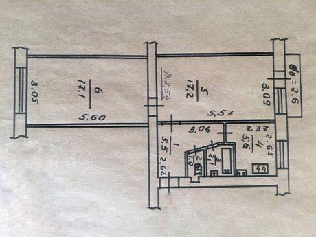 Продам 2-х квартиру средний этаж город Сумы