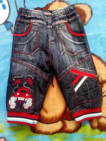 Теплые джинсы Finger boys 80-86,1 год,джогеры
